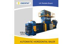 ENERPAT - Model HBA - Fully Automatic Horizontal Cut Non-woven Materials Baler