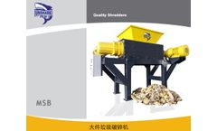 Enerpat - Model MSB-E110 - Aluminum Plate  Shredding Machine