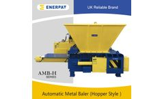 Enerpat - Model AMB-H - Hopper Type Automatic Aluminum Turnings Press Baler