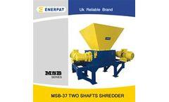 Enerpat - Model MSB-E3 - Scrap Paper Two Shaft Shredder