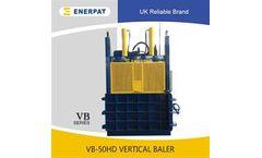 ENERPAT - Model VB-50HD - Hydraulic Waste Cardboard baling press