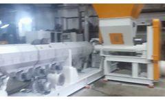 granule machine with crusher - Video