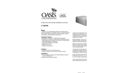 Model F140PM - Non-Refrigerated Stainless Steel Drinking Fountain Datasheet