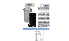Vortox - Integrated Cap and Screen with Side Outlet - Datasheet