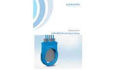 ERHARD - Model DN 700 - 1200 - Knife Gate Valve - Datasheet