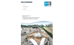 H+E BIOFIT - Model N - Combined Nitrification and Denitrification Plant for Wastewater Treatment in Industry