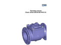 Soft Seated Swing Check Valve Operating Instructions Brochure