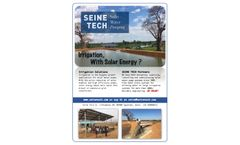 Seine-Tech - Solar Pumping Engineering Services - Brochure