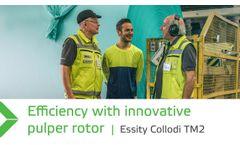Efficient wet strength broke pulping after stock preparation rebuild – Essity Collodi TM2 - Video