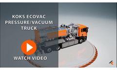Pressure/Vacuum Truck KOKS EcoVac 3D Animation | KOKS Group - Video