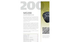 Notox - MD200 - Silicon Carbide Filter Specification Sheet