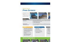 Scalping & Fine Screens Brochure