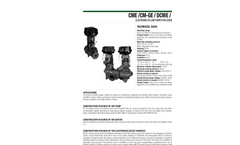Model CME-CM-GE-DCME-DCM-GE - Electronic In Line Pumps- Brochure