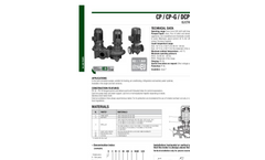 Model CP-CP-G-DCP-DCP-G - In Line Pumps Brochure