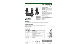 Model CM-CM-G-DCM-DCM-G - In Line Pumps Brochure