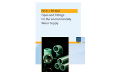 PP-R / PP-RCT - Pipes and Fittings - Brochure