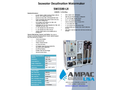 Ampac USA - Model SW1500-LX - Seawater Desalination Watermaker (Land Based) - Brochure