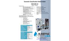 Ampac USA - Model SW1500-LX - Seawater Desalination Watermaker (Land Based) - Brochure