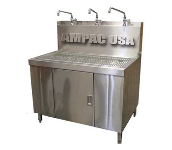 AMPAC USA - Water Stores Bottle Filling Station with 3 Faucets