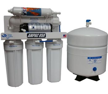 Ampac - Model APRO5-P - 5 Stage Reverse Osmosis Booster Pump Drinking Water System