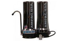 Ampac - Model AP-CT20CH - Dual Counter Top Water Filter - Chrome