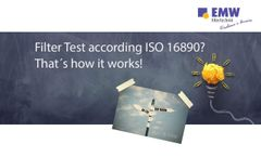 Filter Test according ISO 16890 - Video