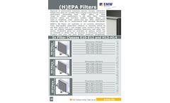 EMW - Model RS Series - HEPA Air Filters - Brochure
