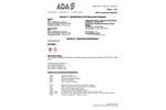 ADA RESPond - Flue Gas Conditioning - MSDS