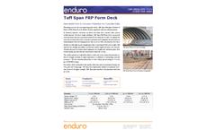 Enduro Tuff Span - Fiberglass Form Deck - Datasheet