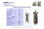 GIGAMEM - Model UF240S2 - Filtration Modules - Datasheet
