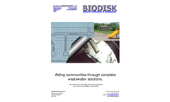 BIODISK - Aiding Communities through Complete Wastewater Solutions - Brochure
