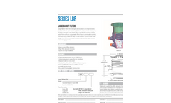 Series LBF Large Basket Filter Specification Sheet