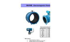 Model M910E - Low-Cost Electromagnetic Flow Meter Brochure