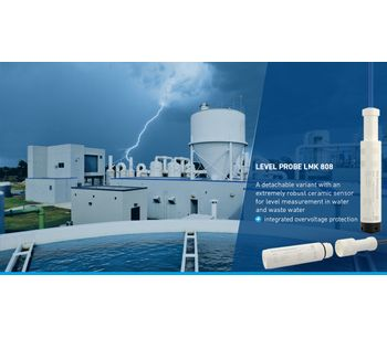 Detachable level probes with integrated lightning protection