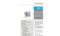 LMP 331 Stainless Steel Sensor for Plant and Mechanical Engineering - Datasheet