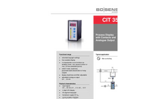 CIT 350 Process Display 96 x 48 mm with Contacts and Analog Output - Datasheet