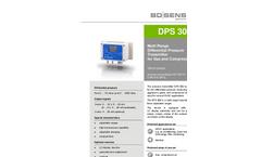 BD|Sensors - Model DPS 300 - Multi Range Differential Pressure Transmitter for Gas and Compressed Air - Datasheet