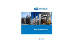 MIRATECH - Model PR - Cowl Silencers Residential Grade Brochure