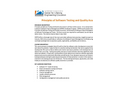 Software Testing and Quality Assurance Course Brochure