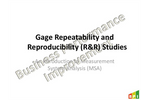 Gage Repeatability and Reproducibility (R&R) Course Brochure