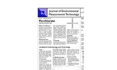 Journal of Environmental Measurement Technology  Perchlorate- Brochure