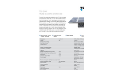 Model TSS 300 - Mobile Solar Powered Water Desalination System Brochure