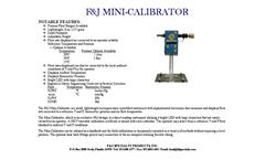 F&J - Mini-Calibrator - Brochure
