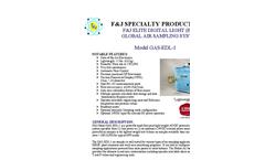 F&J - Model GAS-EDL-1 - Elite Digital Light (EDL) Global Air Sampling System (100 - 120 VAC) - Brochure