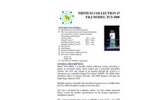 F&J - Model TCS-5000E (220V) - Tritium Collection System - Brochure