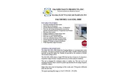 F&J - Model GAS-EDL-28BE (220V) ELITE DIGITAL LIGHT (EDL) Global Air Sampling System - Brochure