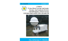 F&J - Model CTBTO - Ultra High Volume Air Sampler - Brochure