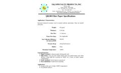 F&J - Model QR100 - Filter Paper - Brochure