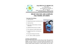 F&J - Model HV-1SRTE - High Volume Air Sampler - Brochure