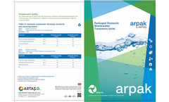 Packaged Domestic Wastewater Treatment Units Brochure